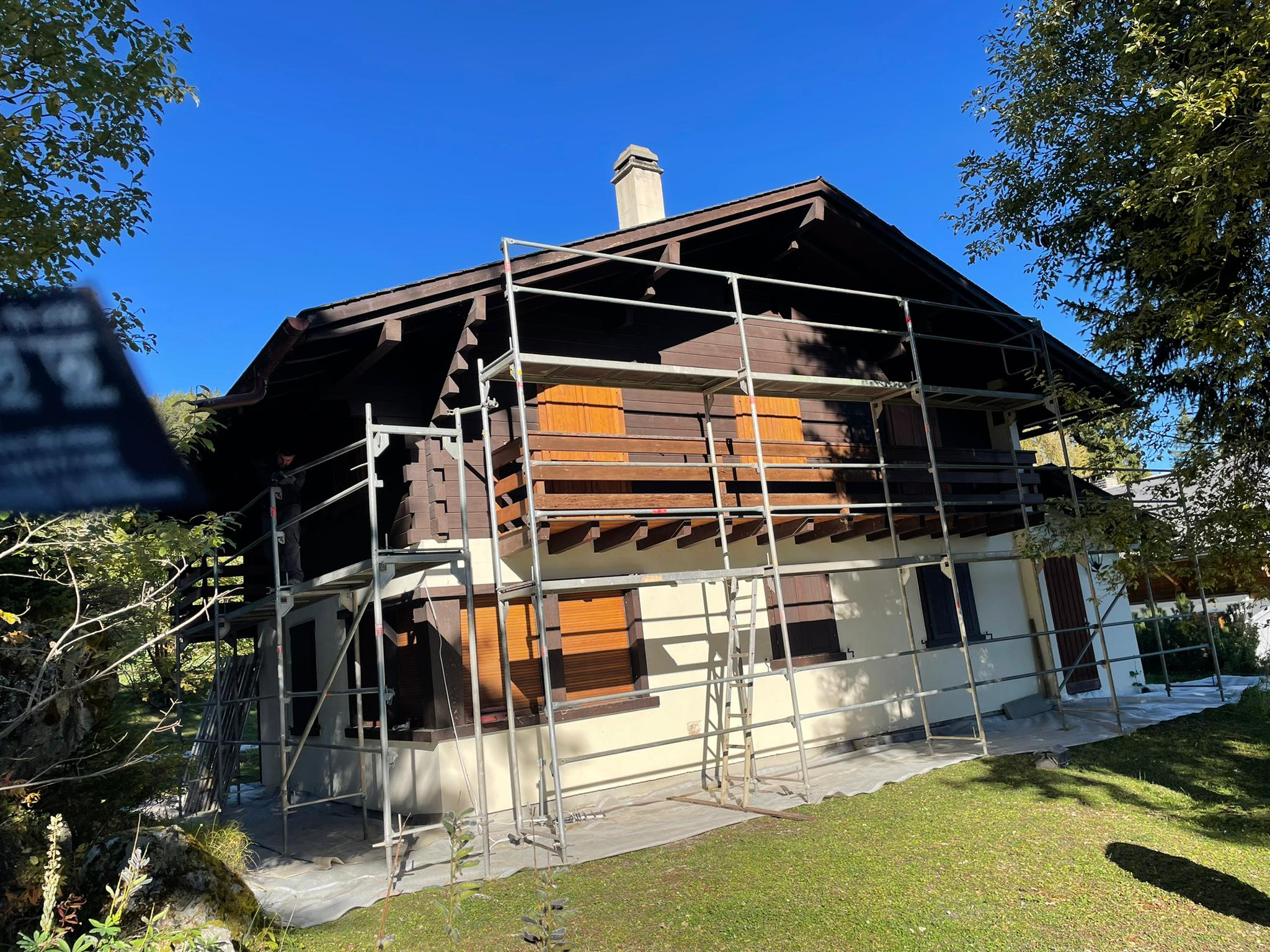 Micro-gommage chalet aux Collons